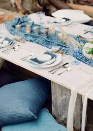 Blue For The Table Wedding Reception