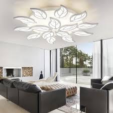 modern leaf design led ceiling lights for bedroom living room