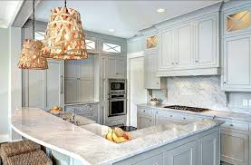 light grey kitchen cabinets faced