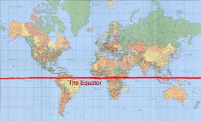 EQUATOR Line SHOULD BE EXACTLY In The CENTRE Of Globe Map World Equator Countries