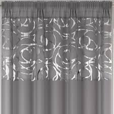 White Sheer Voile Curtains by Arran Metallic Detail Slot Top Sheer Voile Rod Pocket Window Door