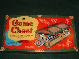 WHITTMAN 1938 GAME CHEST 40 BOARD GAMES COMPLETE W INSTR