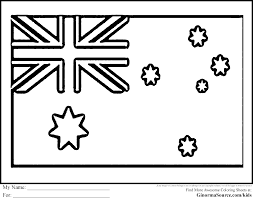 Australia Coloring Pages Flag