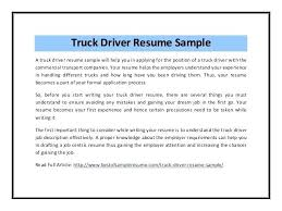 Truck Driver Resume Sample Example No Experience