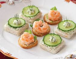and easy canapes shrimp cocktail canapés recipes teatime magazine