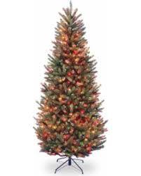 75 Ft Natural Fraser Slim Fir Hinged Pre Lit Christmas Tree