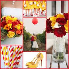 Black white red with pops of yellow tabletop design of Little