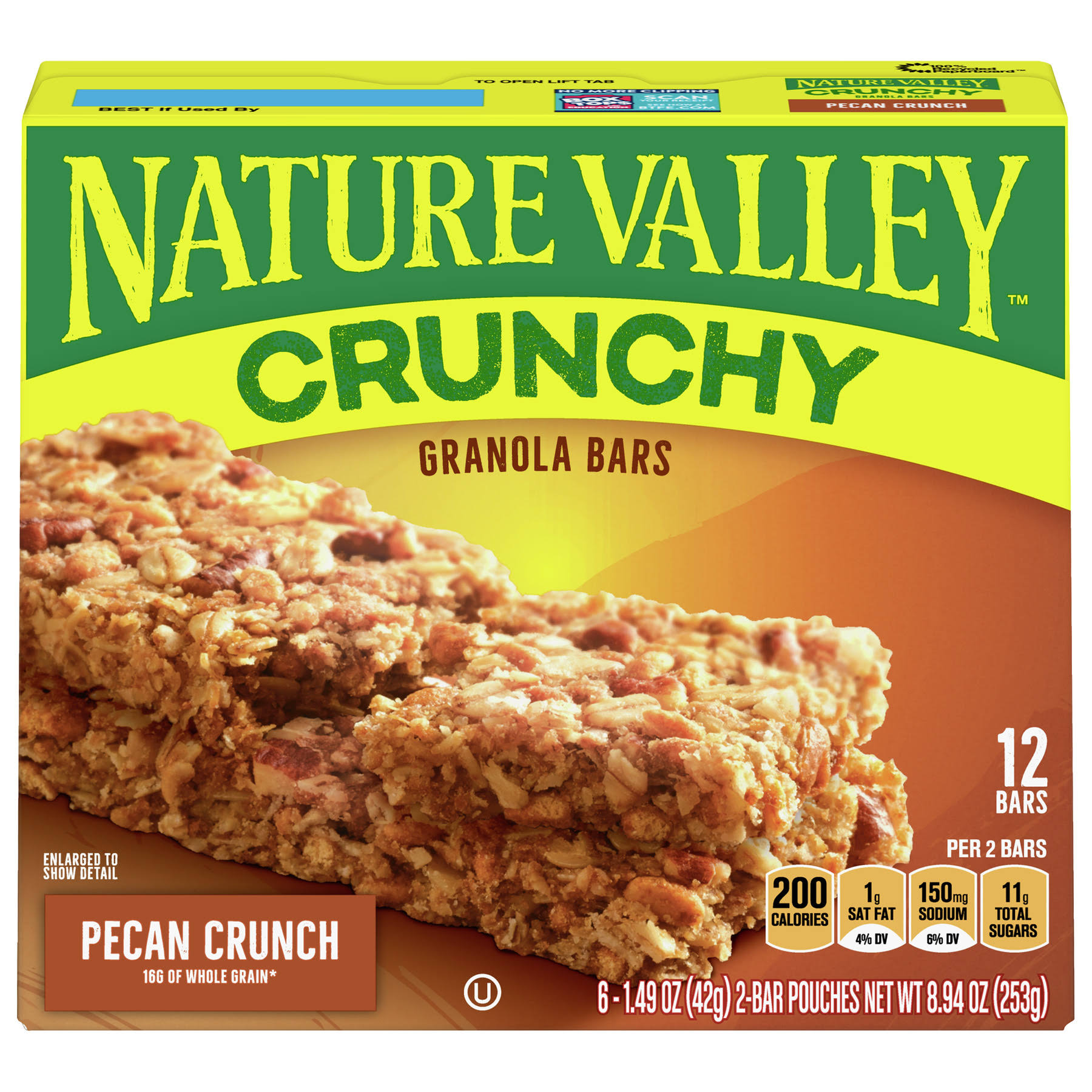 Nature Valley Crunchy Granola Bars - Pecan Crunch, 19.94oz, 12ct