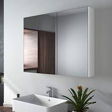 flacher spiegelschrank anschauen niedrige hängeschränke