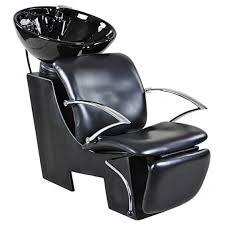 davis black beauty salon shoo chair sink bowl unit icarus