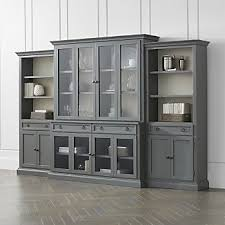Cameo 4 Piece Modular Grey Glass Door Wall Unit