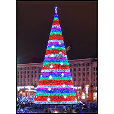 Made In China Artificial Outdoor Park Decoration LED Light Christmas Tree