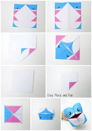 Shark Cootie Catcher Origami For Kids Easy Peasy And Fun Instructions Paper Plate Puppet Craft