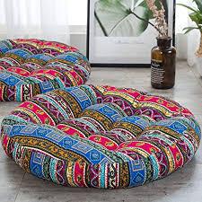antjumper großes rundes bodenkissen boho meditationskissen großes mandala rundes kissen indien sitzkissen für wohnzimmer lesen buch