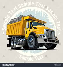 Vector Cartoon Dump Truck Available EPS 10 Stock Vector (Royalty ...