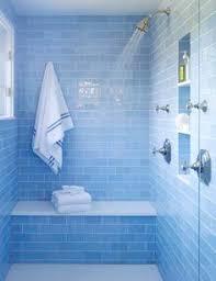 sky blue glass subway tile blue tile bathrooms blue glass tile