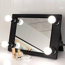 Amazon Black Portable Hollywood Style Vanity Mirror with LED