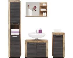 badmöbelset cancun 4 teilig 175 cm nussbaum inkl waschbeckenunterschrank spiegel unterschrank und hochschrank