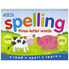 Spelling Flip Chart ThreeLetter Words Daves Deals
