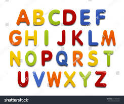 Magnetic Plastic Abc Letters Isolated Stock