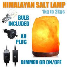 Himalayan Ionic Salt Lamp by 14 X 10cm Natural Himalayan Ionic Air Purifier Rock Crystal Salt