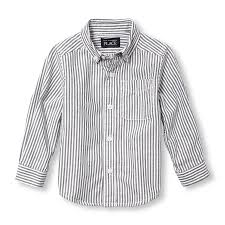 toddler boys long sleeve striped oxford button down shirt the