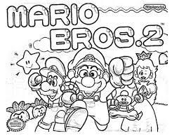 Mario Bros 2 Coloring Pages