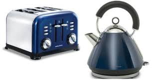 MORPHY RICHARDS ACCENTS BLUE KETTLE 15 LITRE 43770 4 SLICE TOASTER 44730 SET Amazoncouk Kitchen Home