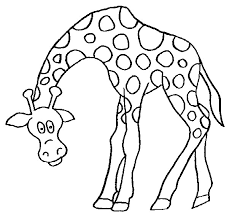 Giraffe Unique Printable Coloring Pages