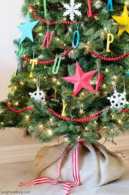 This Christmas Tree Is Just Perfect For A Kids Room The Hanging Ornaments Will Make Excited So Colorful Stars And Bead Garland