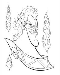 Hades Coloring Page Disney Villains Pages Online Wallpaper