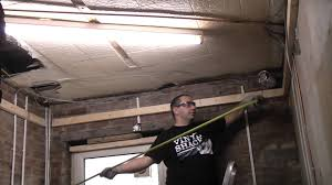 Hanging Drywall On Angled Ceiling by How To Install A Stud Ceiling Youtube