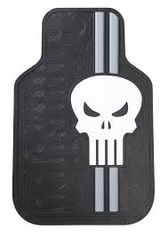 Marvel Punisher Logo Automotive Floor Mat Set (2) | Phase Three ...