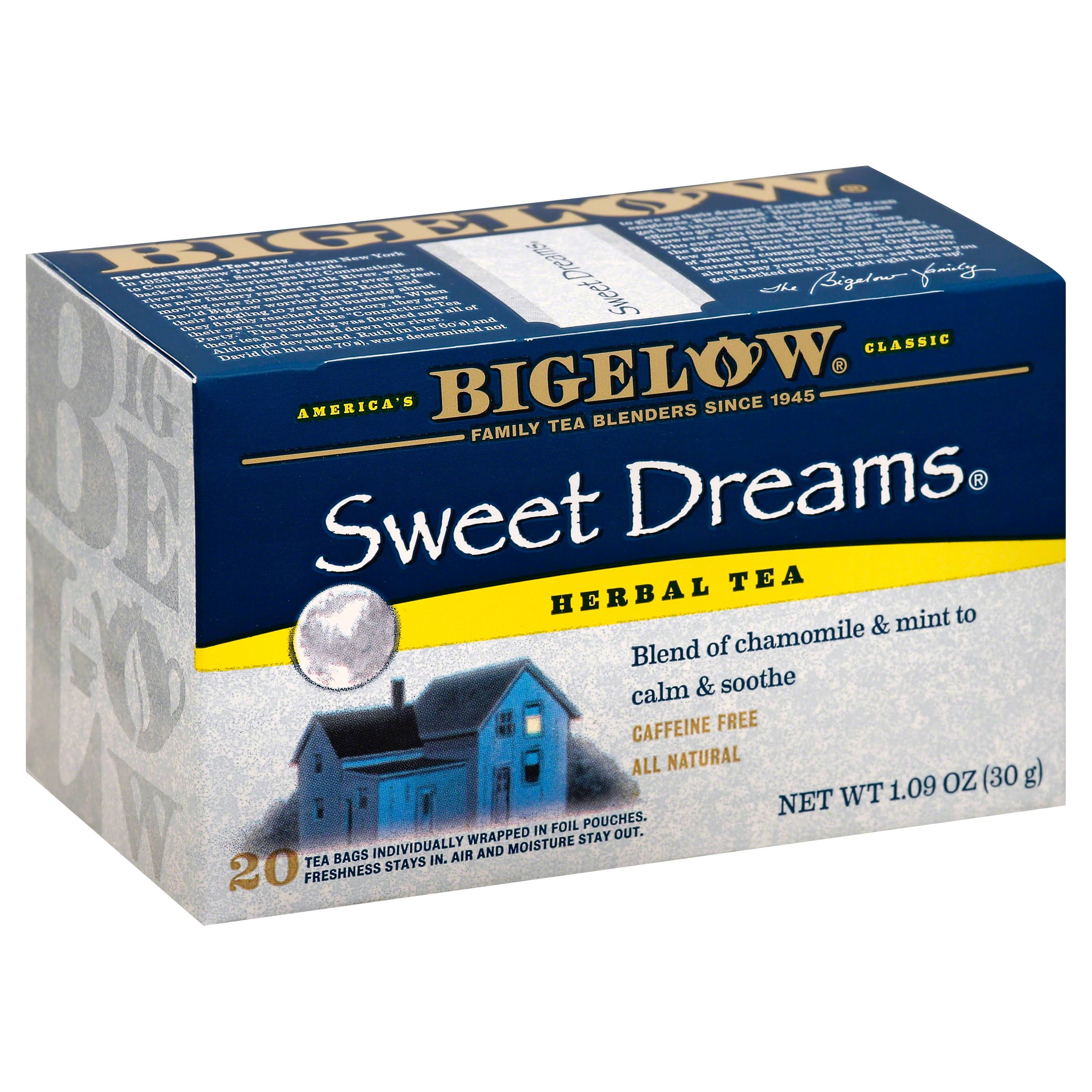 Bigelow Sweet Dreams Herbal Tea Bags - 1.09oz, x20