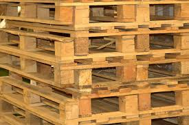 Download Wooden Pallets Stock Photo Image Of Load Cargo Warehouse