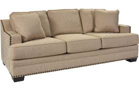 broyhill furniture estes park contemporary sofa with nailhead trim