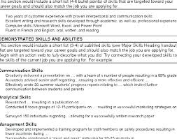 Resume Summary Section Examples Functional How