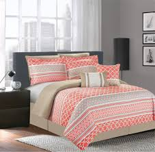 Bedroom Coral Pink Bedding With Coral forter Set