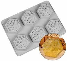 6 loch biene und waben muster seife silikon formen diy kuchen formen süße süßigkeiten schokolade