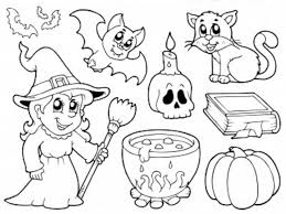 Coloring Pages Stunning Halloween Page Pdf Ii Vintage Free Kids