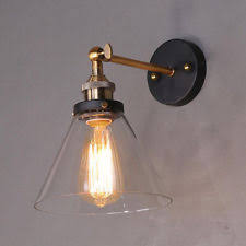 country glass wall sconce wall lighting fixtures ebay