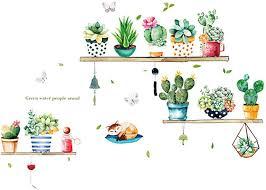 wandtattoos wandbilder eg kaktus bonsai diy