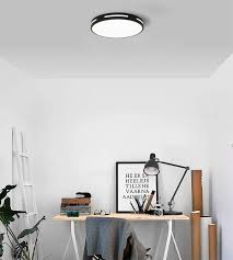 schwarz 6500k cool white wohnzimmer deckenleuchte 24w 12