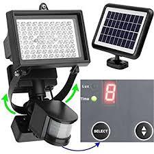 80 led solaire éclairage extérieur avec détecteur de mouvement