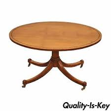 vintage duncan phyfe baker furniture oval maple accent coffee
