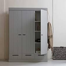 pharao24 schlafzimmer kleiderschrank in hellgrau skandinavisches design