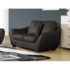 canape cuir 2 places la maison du canapé canapé cuir 2 places julietta marron 164cm x