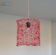 DIY Lampshade Made From Simple Beads That Your Kids Use