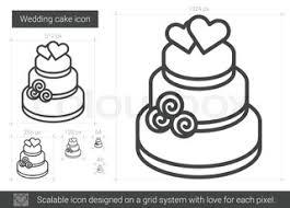 Wedding cake line icon