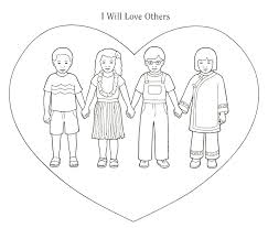 Love Your Neighbor As Yourself Coloring Pages Matthew 2237 39